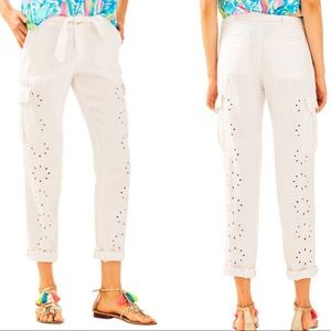 NWT Lilly Pulitzer Ziva Cargo Pants size 00, 4, 16